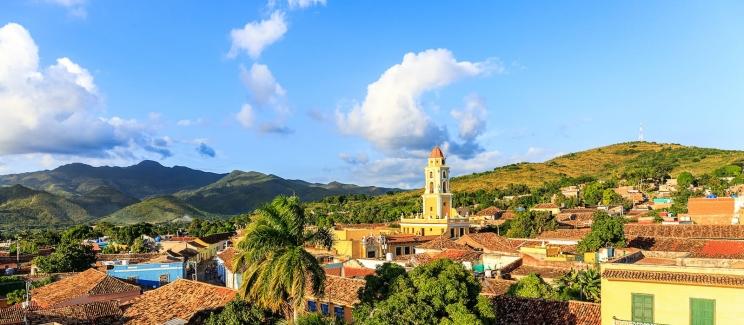 Et vakker bilde av Trinidad by på Cuba, som vi skal ta turen innom. Byen er oppført på UNESCOs verdensarvliste på grunn av sitt godt bevarte historiske sentrum.
